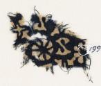 Textile fragment with S-shapes, rosettes, and quatrefoils (EA1990.18)