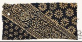 Textile fragment with ornate, dotted, and large rosettes (EA1990.206)