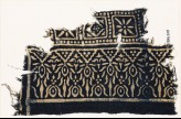 Textile fragment with squares and stylized trees (EA1990.213)