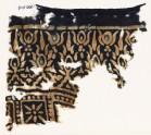 Textile fragment stylized trees (EA1990.214)