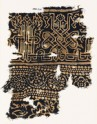 Textile fragment with interlace based on naskhi script, rosettes, and floral pattern (EA1990.216)