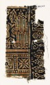 Textile fragment with interlace based on naskhi script, and squares with quatrefoils (EA1990.217)