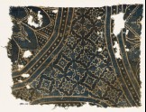 Textile fragment with large rosettes and stepped squares (EA1990.220)