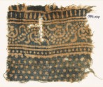 Textile fragment with dotted vine (EA1990.234)