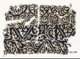 Textile fragment with tendrils, leaves, arches, and rosettes (EA1990.238)