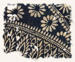 Textile fragment with rosettes and stylized plants (EA1990.241)