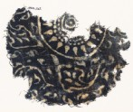 Textile fragment with medallion, rosette, and stylized leaves (EA1990.242)