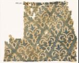 Textile fragment with stylized trefoil plants (EA1990.254)