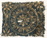 Textile fragment with medallion and stars (EA1990.258)