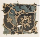 Textile fragment with large flower, tendrils, and leaves (EA1990.271)
