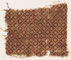 Textile fragment with stepped squares and rosettes (EA1990.286)