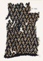 Textile fragment with linked chevrons and trefoils (EA1990.30)