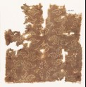Textile fragment with stylized plants and quatrefoils (EA1990.319)
