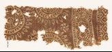 Textile fragment with circles and petals (EA1990.327)
