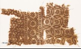 Textile fragment with rosettes, roundels, and quatrefoils (EA1990.329)