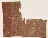 Textile fragment with rosettes set into linked stars (EA1990.331)