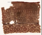 Textile fragment with rosettes, half-rosettes, and bodhi leaves (EA1990.335)