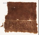 Textile fragment with dots and stylized trees (EA1990.347)