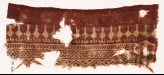 Textile fragment with stylized bodhi leaves, chevrons, and zigzags (EA1990.348)