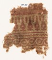 Textile fragment with stylized leaves and cable pattern (EA1990.351)