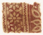 Textile fragment with rosettes and trefoils (EA1990.355)