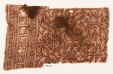 Textile fragment with leaves and flowers (EA1990.365)