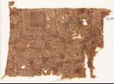Textile fragment with ornate squares, flowers, and crosses (EA1990.366)