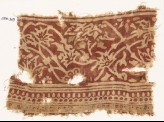 Textile fragment with vines and flowers (EA1990.369)
