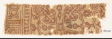 Textile fragment with Maltese cross and rosettes (EA1990.370)