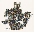 Textile fragment with linked crosses and Maltese crosses (EA1990.39)