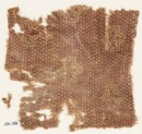 Textile fragment with large plants and possibly bandhani, or tie-dye, imitation (EA1990.398)