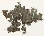 Textile fragment with linked crosses and Maltese crosses