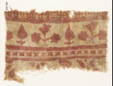 Textile fragment with trees and plants (EA1990.429)