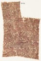 Textile fragment with stylized plants with oval flower-heads (EA1990.432)