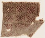 Textile fragment with lines intersecting circles (EA1990.436)