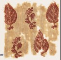 Textile fragment with trees and flowering plants (EA1990.439)