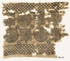 Textile fragment with spirals in braided circles, and stars (EA1990.441)