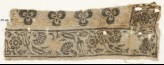 Textile fragment with carnations, rosettes, and tulips