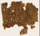 Textile fragment with palm tree, floral patterns, and a pavilion (EA1990.452)