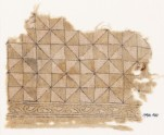 Textile fragment with triangles forming squares (EA1990.461)