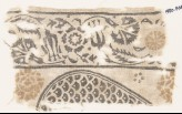 Textile fragment with carnations and tulips, and part of a tear-drop (EA1990.468)