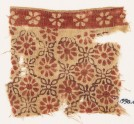 Textile fragment with rosettes and linked quatrefoils (EA1990.474)