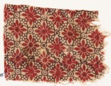 Textile fragment with rosettes, linked circles, and lobed leaves (EA1990.475)