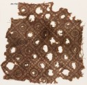 Textile fragment with bandhani, or tie-dye, imitation and rosettes (EA1990.479)