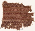 Textile fragment with rosettes, dots, and lobed diamond-shapes (EA1990.503)