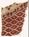 Textile fragment with diamond-shapes and quatrefoils (EA1990.506)
