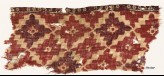 Textile fragment with diamond-shapes and lobed squares (EA1990.507)