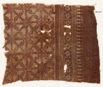 Textile fragment with interlocking spirals or rosettes (EA1990.513)