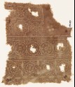 Textile fragment with rosettes in circles, stepped squares, and Maltese crosses (EA1990.519)