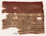 Textile fragment with rosettes in dotted frames (EA1990.521)